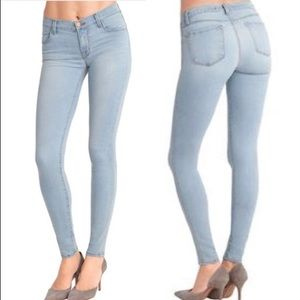 JBrand light wash super skinny jean stretch costa